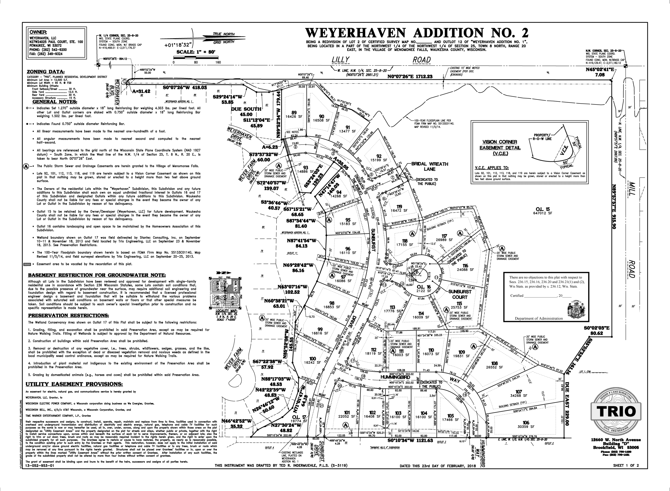 Weyerhaven Addition 2 Subdivision Map