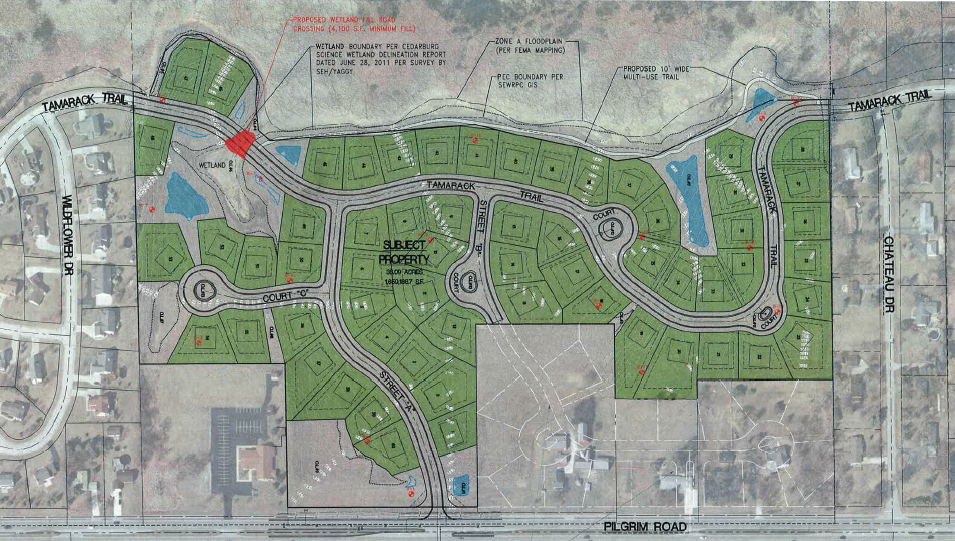 Fox Meadow Subdivision Map