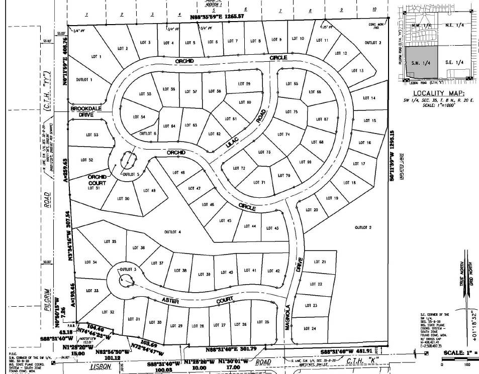 Portion of Brookdale Estates Final Plat