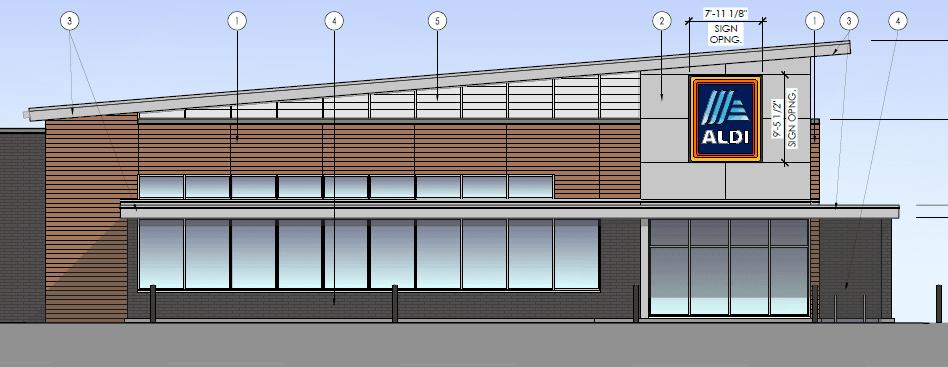 Aldi Store Project Elevation
