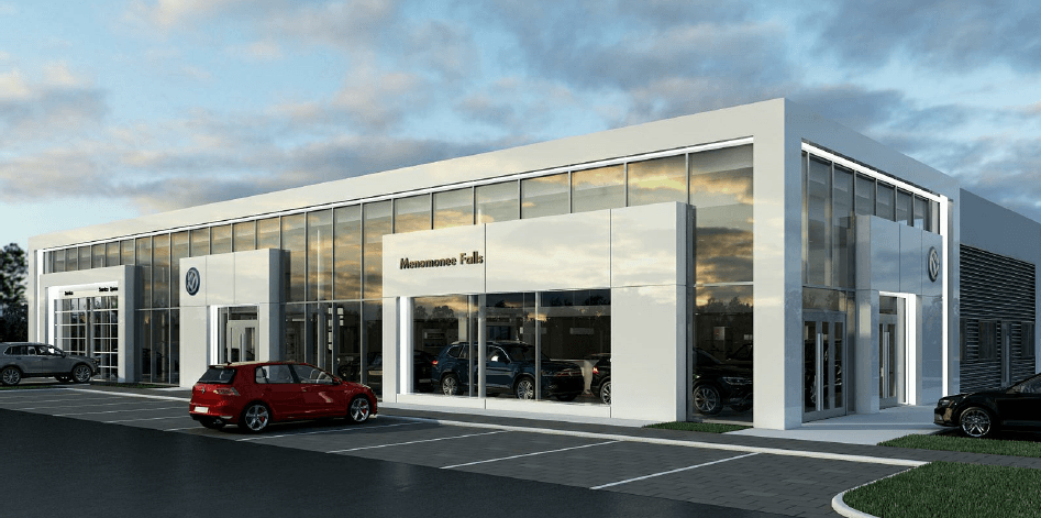 Volkswagen Dealership Project Rendering
